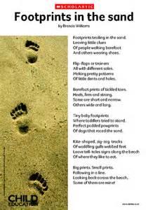 Footprints in the sand poem primary ks1 amp ks2 teaching