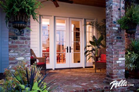 wood 3 panel sliding door 9068 pella 174 architect series 174 hinged patio doors open design