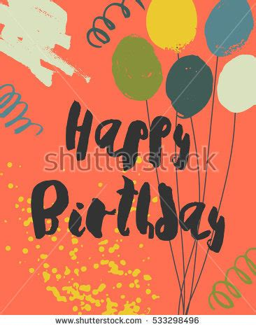playful trading card template colorful happy birthday card template playful stock vector