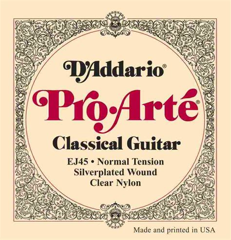 D Addario Pro Arte Classical Guitar Strings - d addario classical guitar strings pro arte ej45 normal