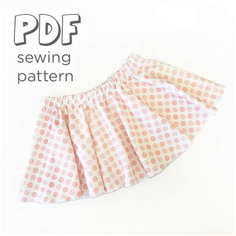 printable toddler skirt pattern baby and toddler skirt sewing pattern download 0 3 months
