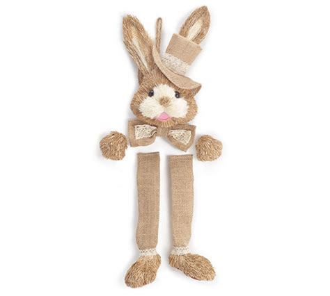 natural sisal bunny wreath kit