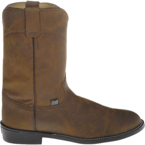 mens roper cowboy boots justin s roper apache western boots academy
