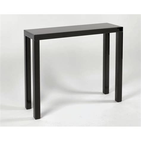 black console table black glass console table glass furniture from