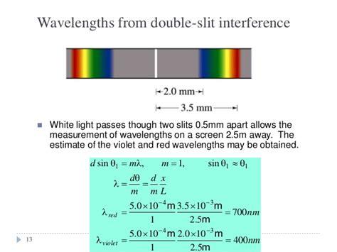 interference pattern using white light chapter 4a interference