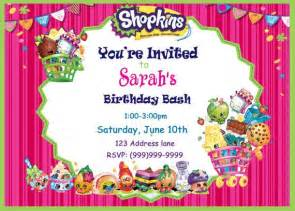 shopkins birthday invitations lilbibby com