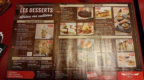 Buffalo Grill Carte Prix by Carte Des Desserts Photo De Buffalo Grill Cit 233 De