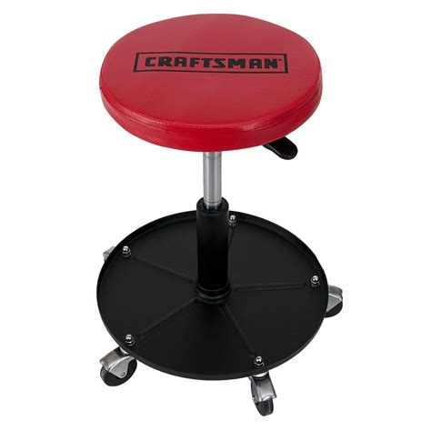 Garage Stool With Wheels by Craftsman Adjustable Mechanics Seat