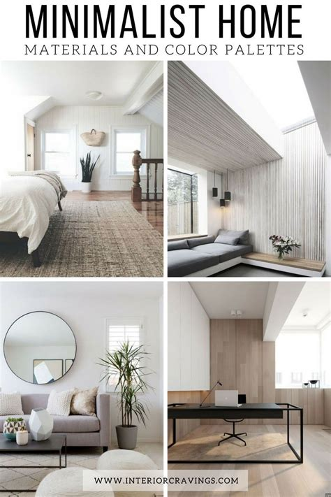 home interior inspiration minimalist home essentials materials and color palette