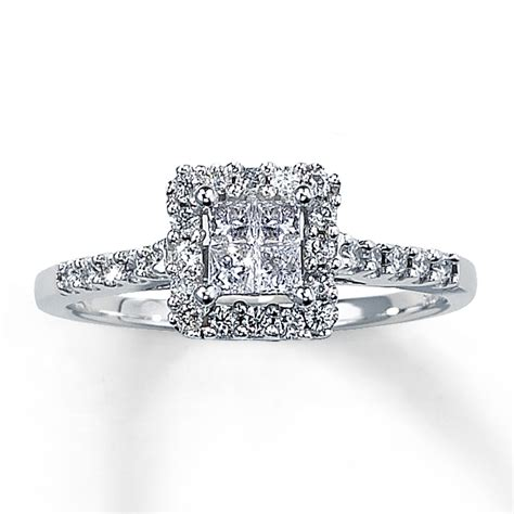 Big Square Diamond Wedding Ring Kay Diamond Engagement