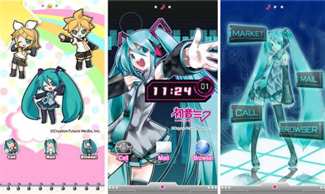 theme line android miku vocatrix novice the android powered smartphones mikusere