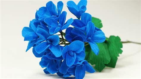 Hydrangea Paper Flower Bloombox paper flower diy paper hydrangea flower bouquet tutorial