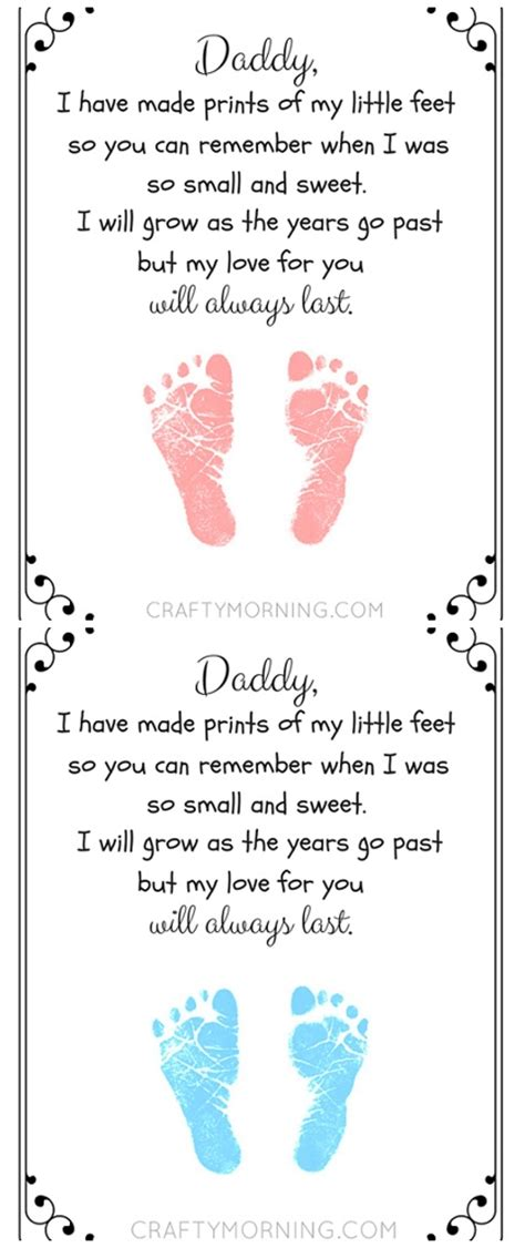 free fathers day poems free printable s day footprint poem from the