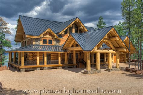 Handcrafted Log Homes - custom log homes picture gallery bc canada