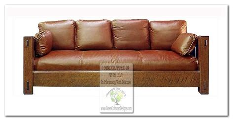 mission style sofas craftsman sofas chicago by