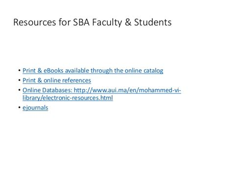 Mba Students Database by Mohammed Vi Library Databases For The Executive Mba