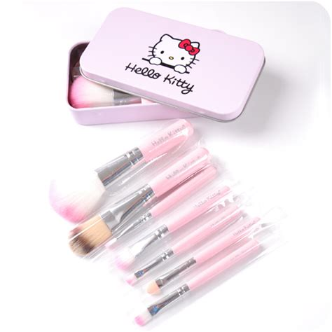 1 Set Kuas Make Up Wardah hello brush make up 7 in 1 kuas make up karakter hello quality elevenia