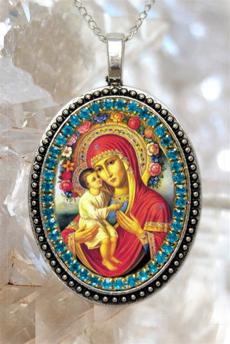 Handmade Religious Jewelry - our of pompeii handmade necklace catholic christian