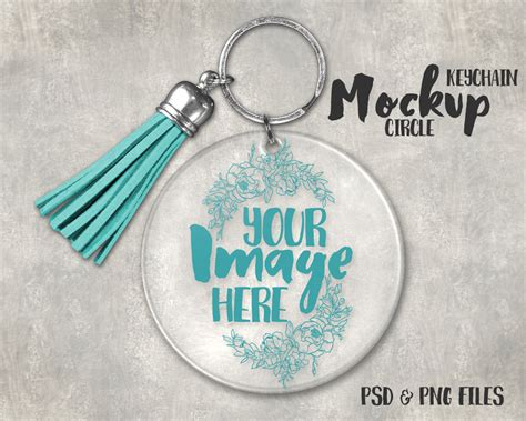 keychain card template acrylic keychain with tassel template mockup add your