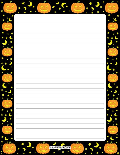 printable halloween stationery paper printable halloween stationery
