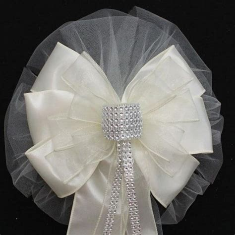 Wedding Aisle Bows by Ivory Bling Wedding Pew Bows Church Aisle Decorations