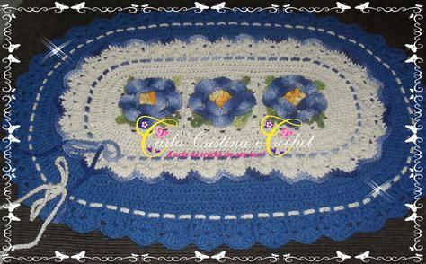 tapete de croche bico duplo elo7 pictures to pin on pinterest tapete oval com barrado duplo carla cristina e crochet