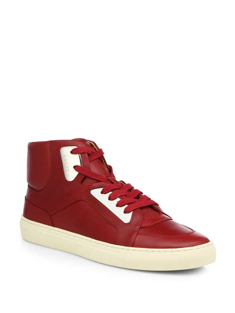 high top bally sneakers bally leather high top sneakers in for bally