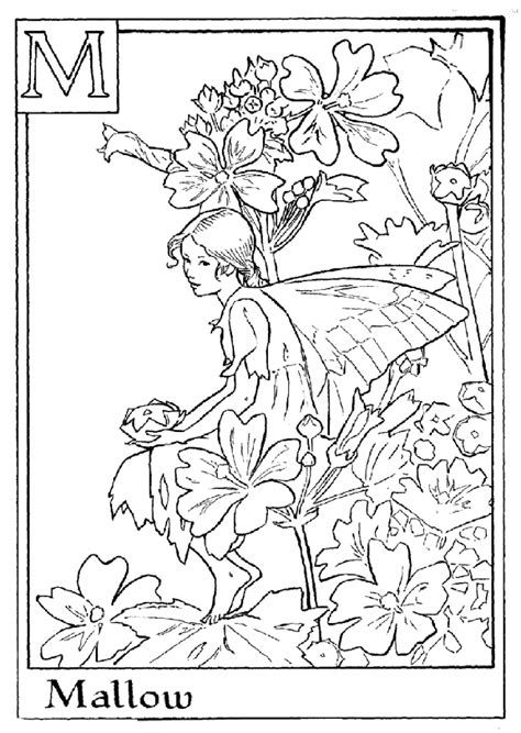 Coloring Pages Fairies And Flowers | flower fairies coloring pages coloring home