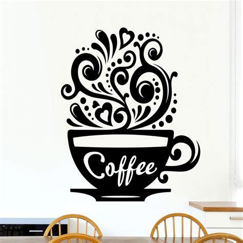 kitchen wall vinyl stickers coffee cups kitchen wall tea sticker vinyl decal restaurant pub decor