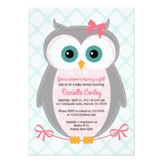 Vintage Owl Baby Shower Invitations by Owl Baby Shower Invitations Announcements Zazzle