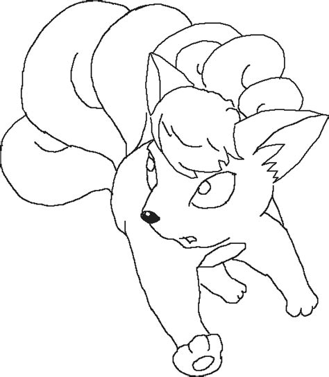 pokemon coloring pages vulpix cartoon pokemon vulpix colorig pages