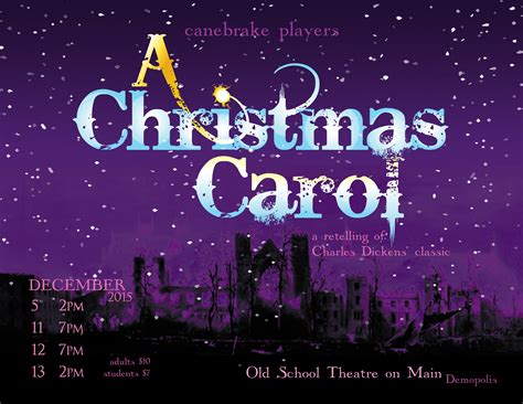 canebrake players a christmas carol