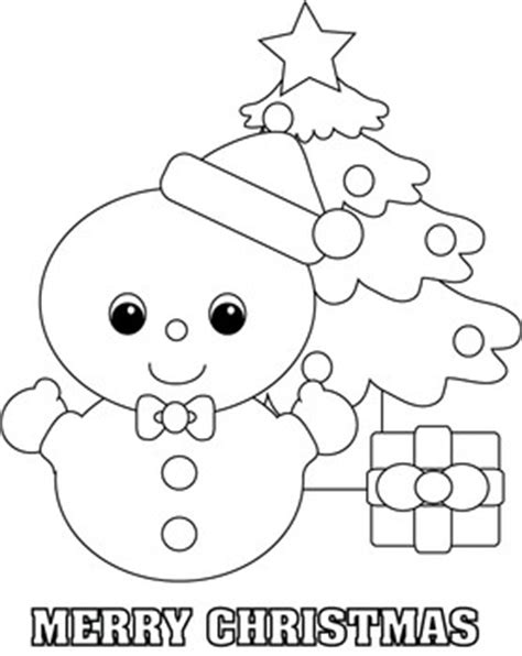 Baby Snowman Coloring Page | snowman color page christmas coloring pages free
