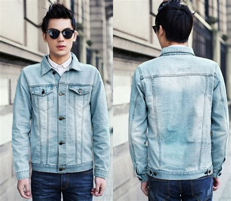 S Casual Regular Outdoor Jackets Denim Jackets With faded denim jacket jackets review