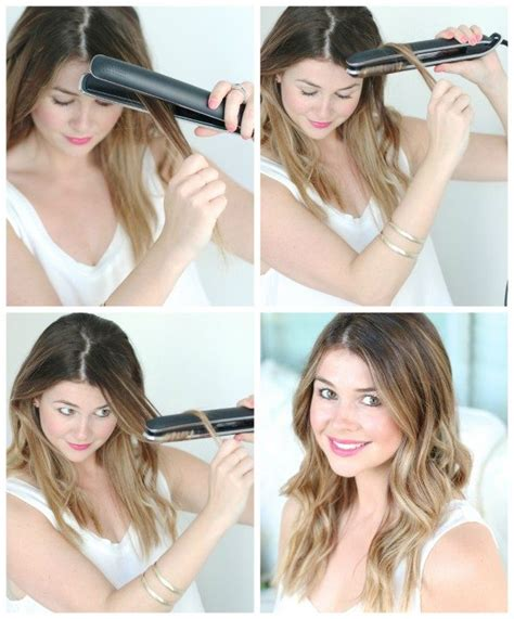 how do you use straighteners on a short side fringe how to get beach waves with a flat iron glitter guide