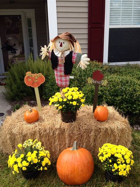 fall hay decorations pin by on