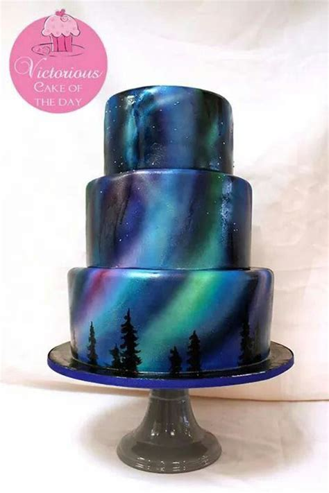 Northern Lights Lights And Cakes On Pinterest Light Cakes
