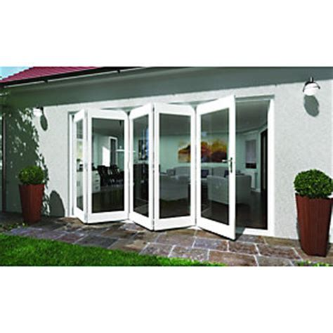 wickes lyndon finished folding patio door white 12ft wide