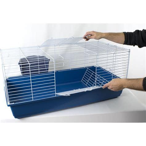gabbia per coniglio gabbia conigli con portafieno 99x51x46h cm