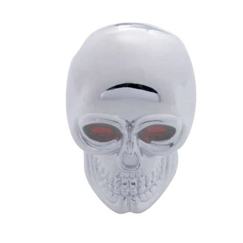 Skull Gear Knob by Chrome Skull Thread On Gear Shift Knob 75 Chrome Shop