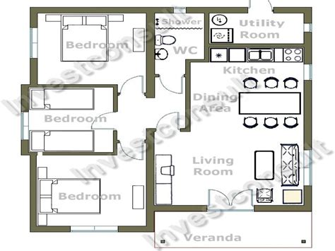 3 bedroom cottage floor plans small 3 bedroom house floor plans simple 4 bedroom house