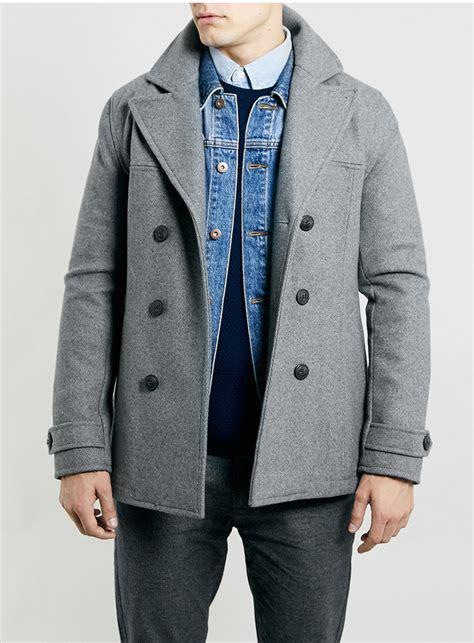 light grey peacoat mens light grey pea coat mens han coats