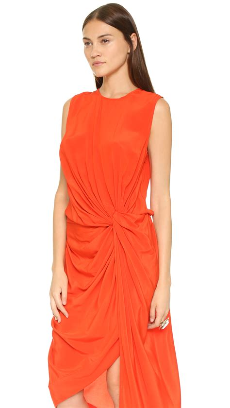 zimmerman silk drape dress zimmermann silk twist drape dress flame orange red silk sz
