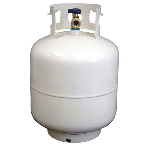 backyard grill refillable propane tank 20 lb steel propane cylinder with opd device white new