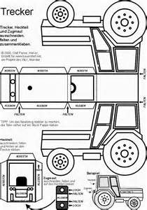 tractor cut out templates traktor basteln tractor template templates printables