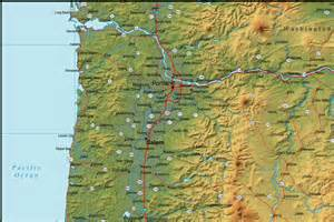 oregon map oregon map and oregon satellite images