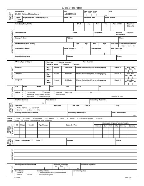Best Photos Of Police Report Template Pdf Blank Police Report Template Blank Police Arrest Arrest Report Template