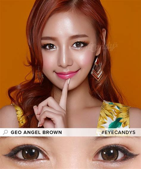 geo super size angel brown contacts free cute contact buy geo angel brown colored contacts eyecandys