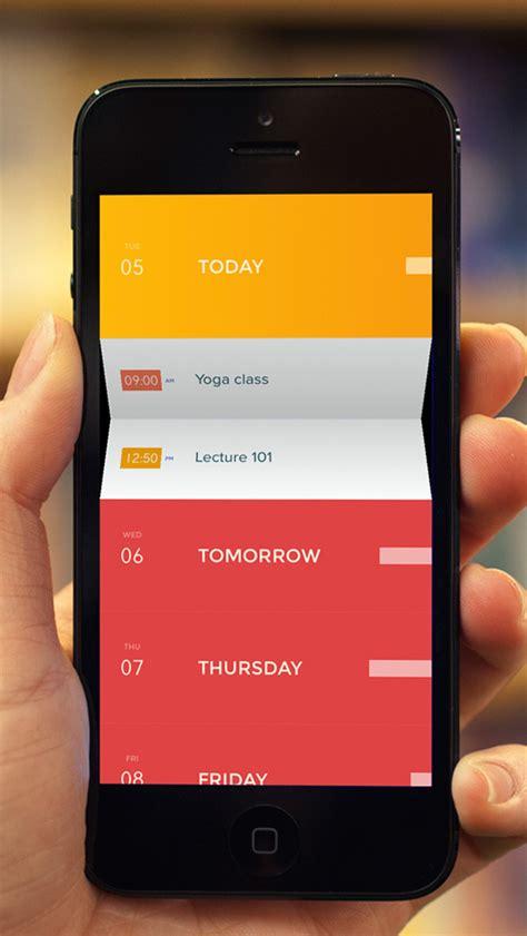 design inspiration apps mobile app design inspiration peek calendar designbeep