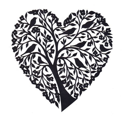 How To Make Paper Cutting Designs - papercut by yasemin wigglesworth hearts